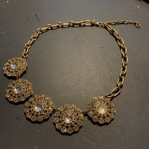 J. Crew Jewelry - Golden Necklace with Gems